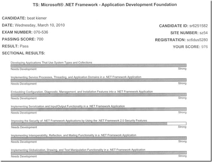 Mcts Exam Framework Application Development Kieners Blog